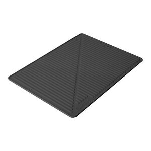 Final Touch Large Silicone GLASS DRYING MAT Home Kitchen Sink Dish Washing Up UK
