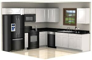 White Shaker 10x10 Set RTA Cabinets and Ply, ForeverMark Cabinetry