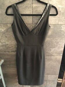 ALC little black cocktail dress size 2 made in USA