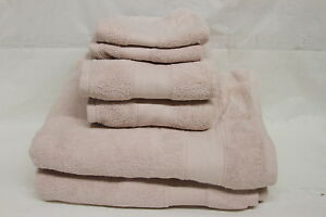 Casa Zeta-Jones 100% Turkish Cotton 6 Piece Towel Set BLUSH  RTL$50