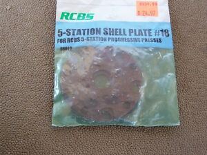 RCBS 5 Station Shell Plate #18 Unused in Package PRO2000 Ammomaster