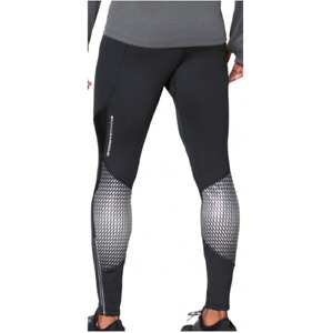 New Under Armour Mens Black White Storm Winstopper Long Running Tights Size XL