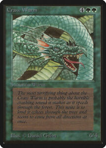MTG X1: Craw Wurm, BETA Edition, C, Light Play
