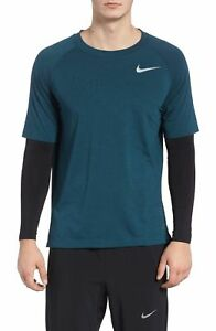 Nike Dry Men's Blue Force Twofer Run DIvision Dri-Fit Training Long Sleeve Shirt
