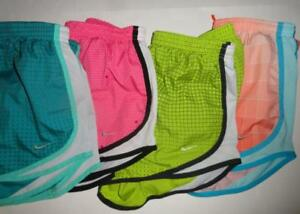 NIKE DRI FIT Small Tempo Lined Athletic Shorts Womens 4 pair Pattern Multi Color