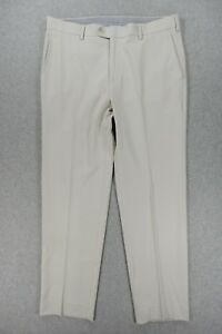 Peter Millar CROWN SPORT Flat Front Casual Golf Pants (Mens 33x29.5) Tan