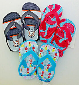 baby toddler flip flop scandals watermelon pineapple skull & anchor 56 34 NEW