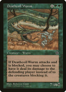 MTG X1: Deathcoil Wurm, Portal Second Age, R, Light Play