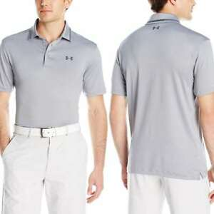 Under Armour Men's Coldblack Address Polo Steel (035)Stealth Gray Small New