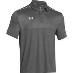 Under Armour Men's Ultimate Polo Golf Shirt Top GraphiteWhite. 1247506-045-LG