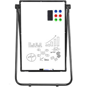 Mobile Whiteboard Magnetic Dry Erase Board 36*24'' Single Sided with Stand