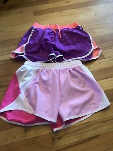 2 Champion C9 Performance Shorts Womans Sz Small Gray Athletic Running Exce