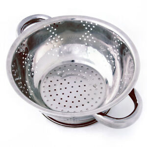 Stainless Steel Kitchen Colander | Pasta Strainer, Rise Fruits & Veggies, 1 Qt