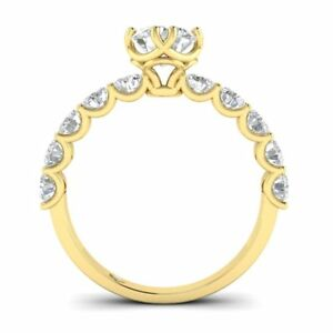 Yellow Gold Vintage Antique-Style Designer Round Diamond Engagement Ring - 2.00