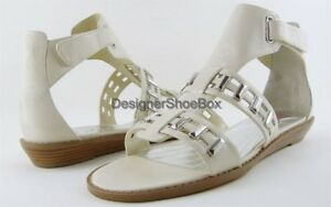 $150 MISS SIXTY ISABELLE Ice Leather Designer Wedge Comfort Sandals 5.5 EUR 35.5