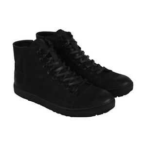 Kenneth Cole Reaction Design 20688 Mens Black Leather High Top Sneakers Shoes