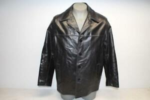 Wilsons Leather Men's Size L Black Leather Jacket With Insulation *Pre-Owned*