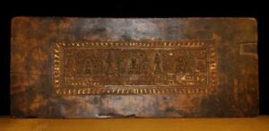 Wonderful 16th Century Old Antique Tibet Wooden Buddha Statue Sutra Cover Museum