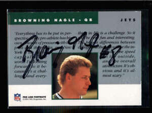 BROWNING NAGLE 1991 PRO LINE PORTRAITS ON CARD AUTOGRAPH AUTO AC1224 $11.99