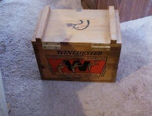 Winchester ammo box wood colorful good looking box for your cabin or living room