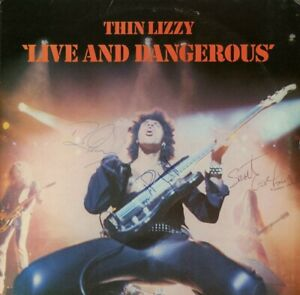 Thin Lizzy Live and Dangerous Vinyl Record SIGNED Phil Lynott Brian and Scott!!