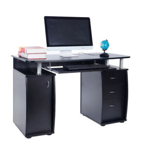 Computer Desk PC Laptop Writing Table Workstation Study Furniture w 3 Drawer