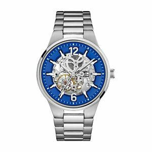 Caravelle NY Men's  Automatic Stainless Blue Dial Bracelet Watch