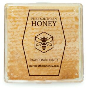 Raw Honeycomb 1lb. by Pure Southern Honey, New 2020 Crop