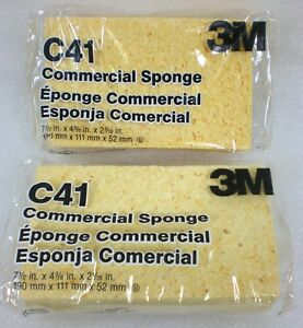 2 PACK 3M Extra Large Commercial Sponges C41 7 1 2 X 4 3 8 X 2 1 16 NEW