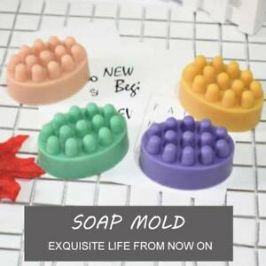 4 Cavity Silicone Mold Massage Bar 3D For Soap Pudding Jelly Mould Tray Durable
