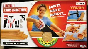 Real Construction Deluxe Workshop S.T.E.M. Building Kit from JAKKS 129 Pieces