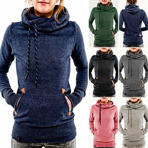 Women's Winter Hoodie Hooded Long Sleeve Sweatshirt Sweater Pullover Jumper Tops