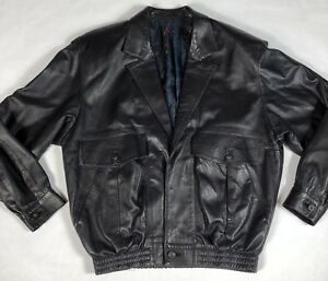 Lanvin Mens Black Soft Leather Jacket Coat 36