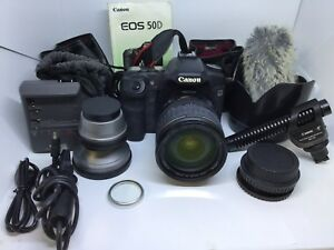 Canon EOS 50D 15.1MP Digital SLR Camera w EF-S 28-135mm IS Lens +Many Extra