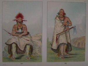 GEORGE CATLIN - 1926 - PLATE 88 - PORTRAITS - PAWNEE - GENUINE & AUTHENTIC