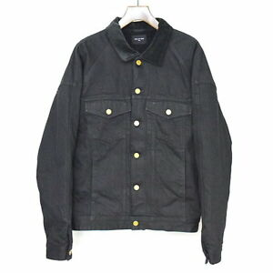FEAR OF GOD Selvedge Denim Alpaca Trucker Jacket denim jacket black XL