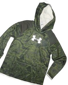 Under Armour girl's storm camo Hoodie Sweatshirt  YLG youth Large 14-16