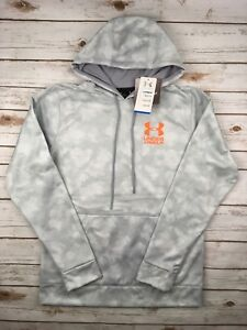 Mens Under Armour Hoodie Coldgear Storm Grey Camo Pullover Midweight S M L XL $41.58