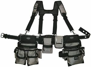 Carpenters Electrician Construction Tool Belt Bag With Suspenders Tools Work New