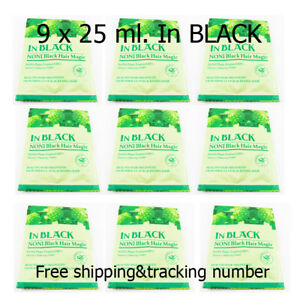 9 x 25 gbag Shampoo dyed hair black for healthy hair fast easy conveniently