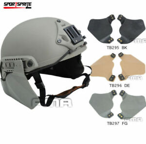 Side Ears Protector Covers Rubber Soft For Painball Tactical Fast Rail Helmet