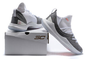 AUTHENTIC Under Armour Curry 5 Welcome Home Wht Grey Orange 3020657 107 Men size