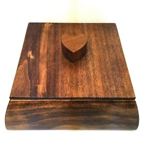 Valet Jewelry or Trinket Box Hand Made Wooden Organizer 6.5quot; Square $24.00