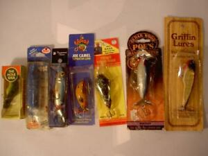 INSTANT COLLECTION VINTAGE OLD FISHING LURES LOT ~ MIXED BAITS THE HOLE POE'S