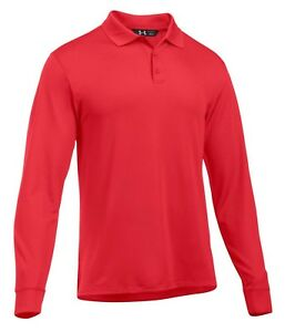 Under Armour Men's Red UA Tactical Performance Long Sleeve Polo Shirt $38.49