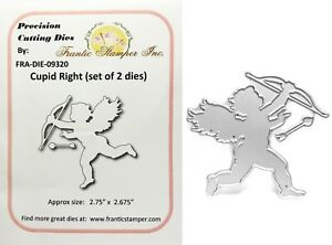Valentine#x27;s Cupid Right Die Cut Metal Frantic Stamper Cutting Dies Cherub Arrow $9.47