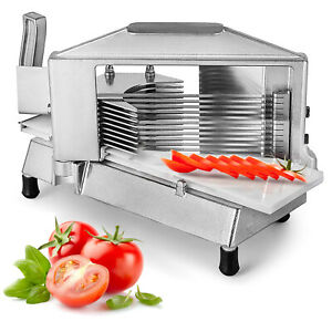 """Commercial Tomato Slicer Fruit Cutting Machine 1/4"""" Stainless Steel Blade Restau"""