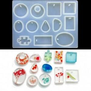 Translucent Silicone Mold Resin Jewelry Making Pendant Mould Epoxy Craft DIY FM $5.77
