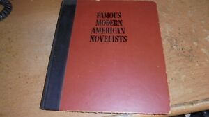 Famous Modern American Novelists by John Cournos 1952 hardcover 0 $1.25