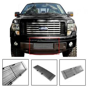Bumper Horizontal Billet Grille Grill Insert Chrome For 2009-2014 Ford F-150